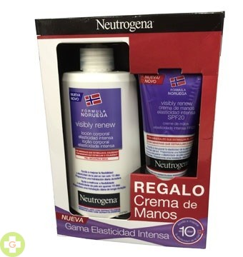 NEUTROGENA PACK ELASTICIDAD VISIBLY RENEW CORPORAL 400 ML+CR MANOS 75 ML