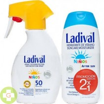 LADIVAL NIÑOS FOTOPROTECTOR FPS 50 SPRAY - FOTOPROTECCION +AFTER SUN (PACK DUPLO 200 ML+ 200 ML )