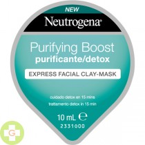 NEUTROGENA PURIFYING BOOST EXPRESS FACIAL CLAY-M 10 ML (VERDE)