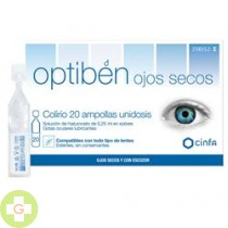 OPTIBEN OJOS SECOS GOTAS - SEQUEDAD OCULAR (UNIDOSIS 0.25 ML 20 AMP )