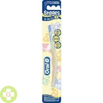 CEPILLO DENTAL INFANTIL - ORAL-B STAGES 1 (4 MESES - 2 AÑOS )