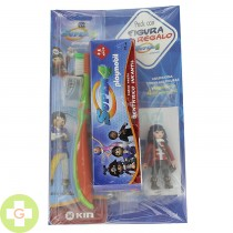 KIN PACK DENTIFRICO JUNIOR +5 AÑOS + CEPILLO + PLAYMOBIL