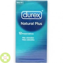 DUREX NATURAL PLUS - PRESERVATIVOS (12 U )